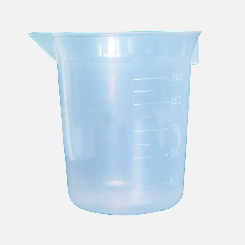 Lab Transparent Plastic Beaker With Spouted and Graduated