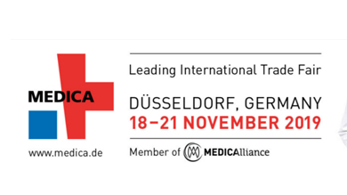Welcome to meet us at MEDICA 18 - 21 November 2019 in Düsseldorf / Germany