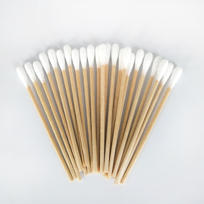 Wooden Cotton Buds Sterile Cotton Swabs Sticks